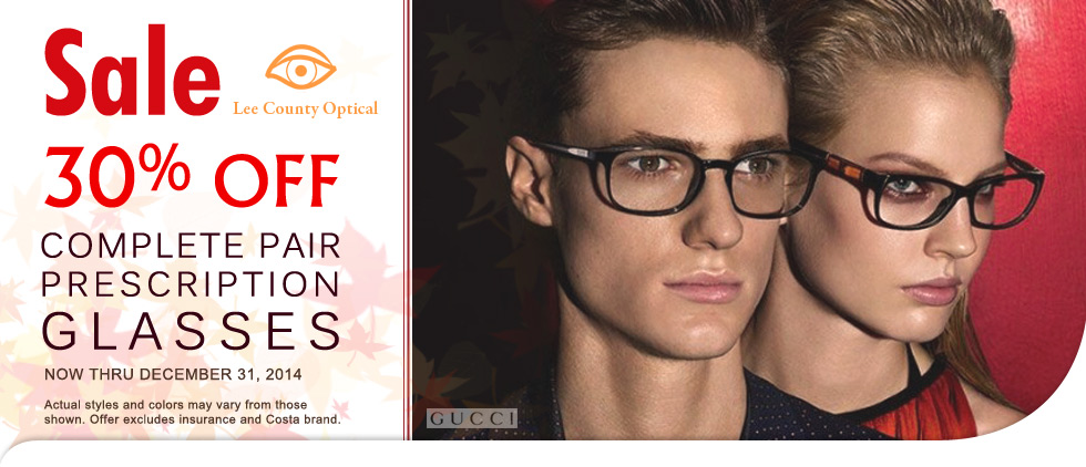 30% off complete pair of eyeglasses