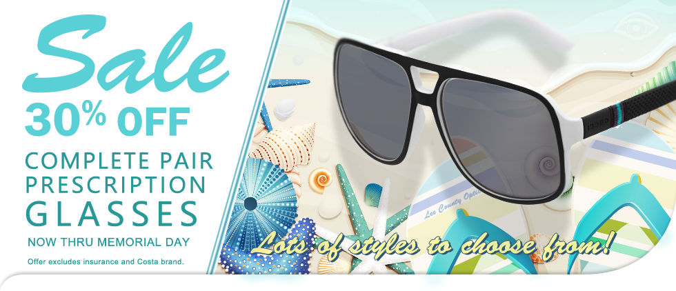 30% Off Prescription Sunglasses